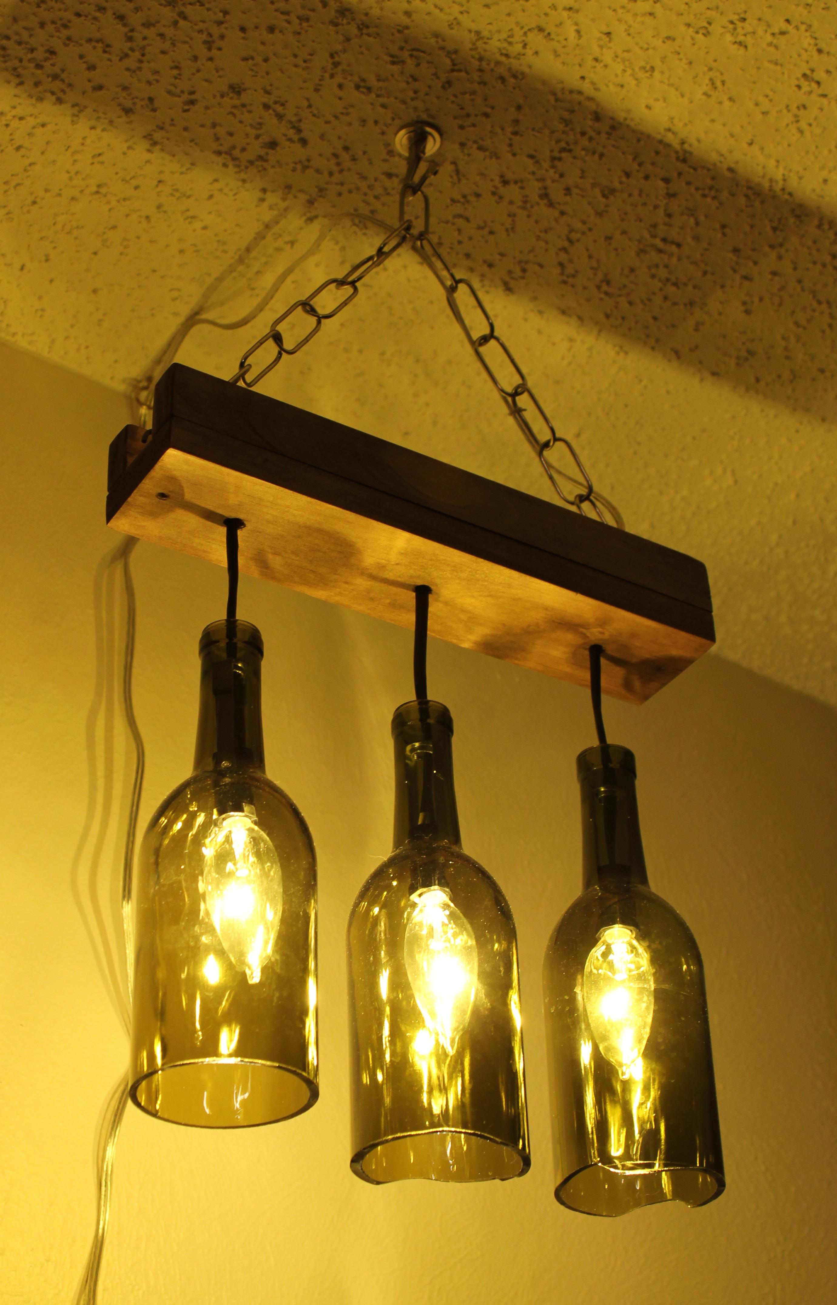 Making a wine bottle chandelier  Laura Makes