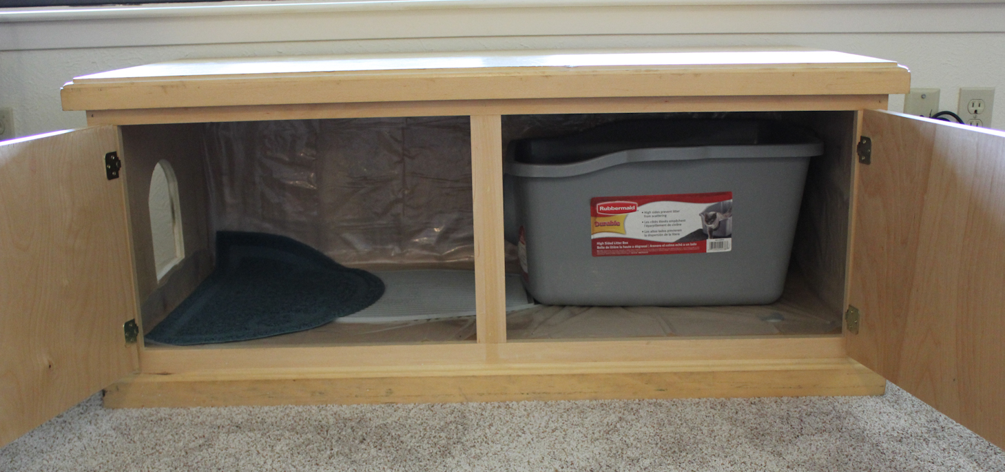 Making furniture to hide those litter boxes : Laura Makes