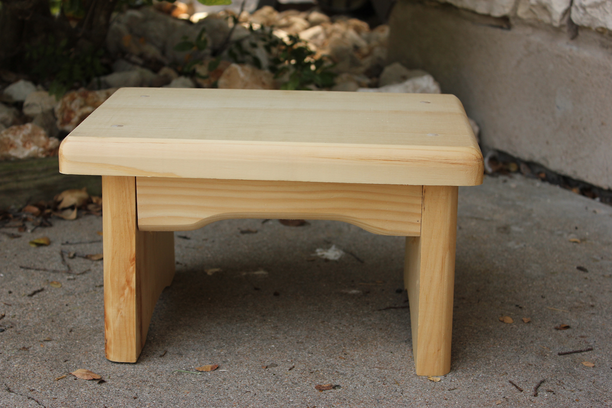 Simple wooden footstool plans woodproject