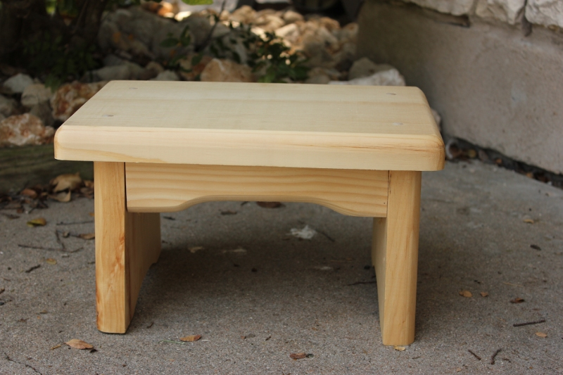 free wooden footstool plans