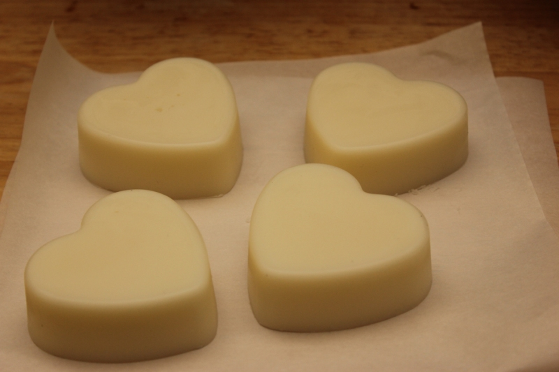 Lotion bars out of the mold