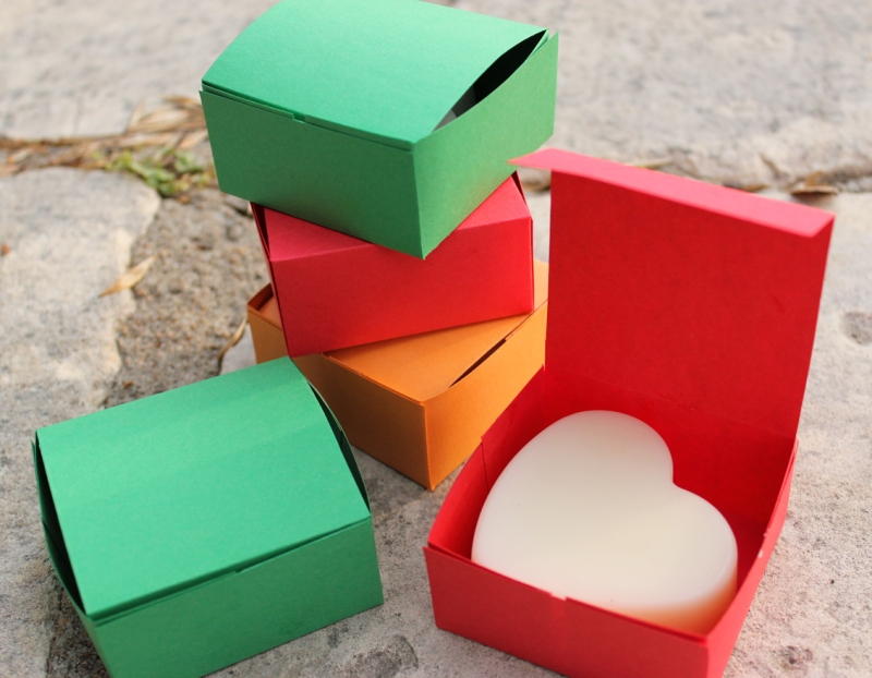 Lotion bars in home made boxes, ready for gifting