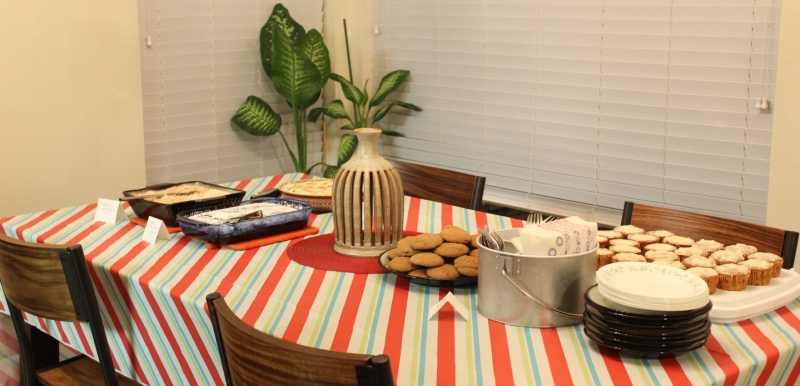 Birthday desserts, ready to be eaten!