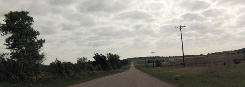 The clouds kept the temperature down through much of the ride.