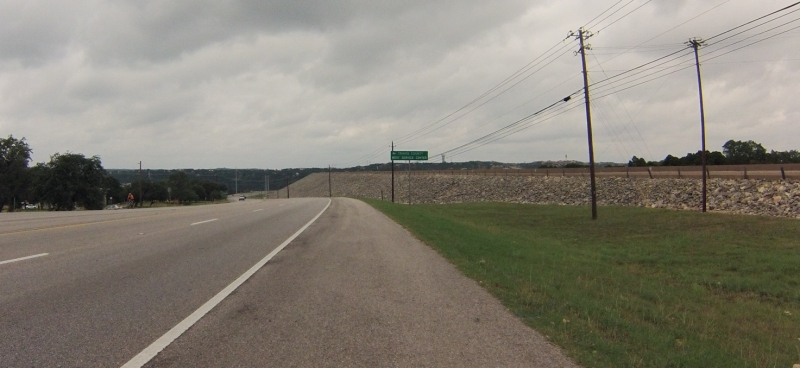 Coming up to Mansfield Dam.