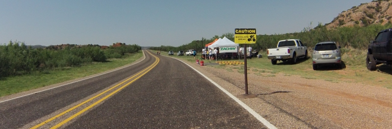 Another rest stop was located at the bottom of the canyon filled with cheering volunteers.