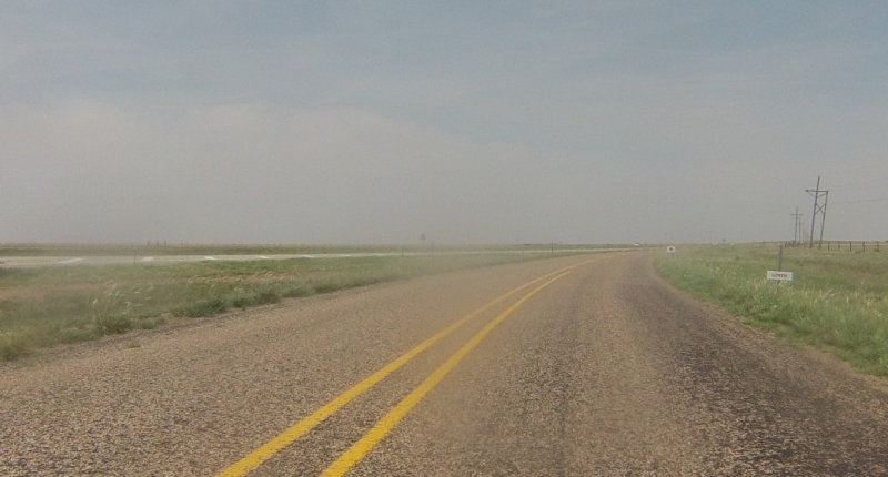 The next part of the route was on the I-27 frontage road. Not a car to be seen on the entire 10 ish miles on the frontage road. We were flying with a strong wind at our backs.