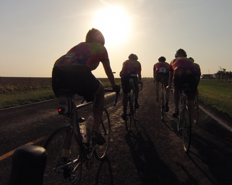 Second group of riders
