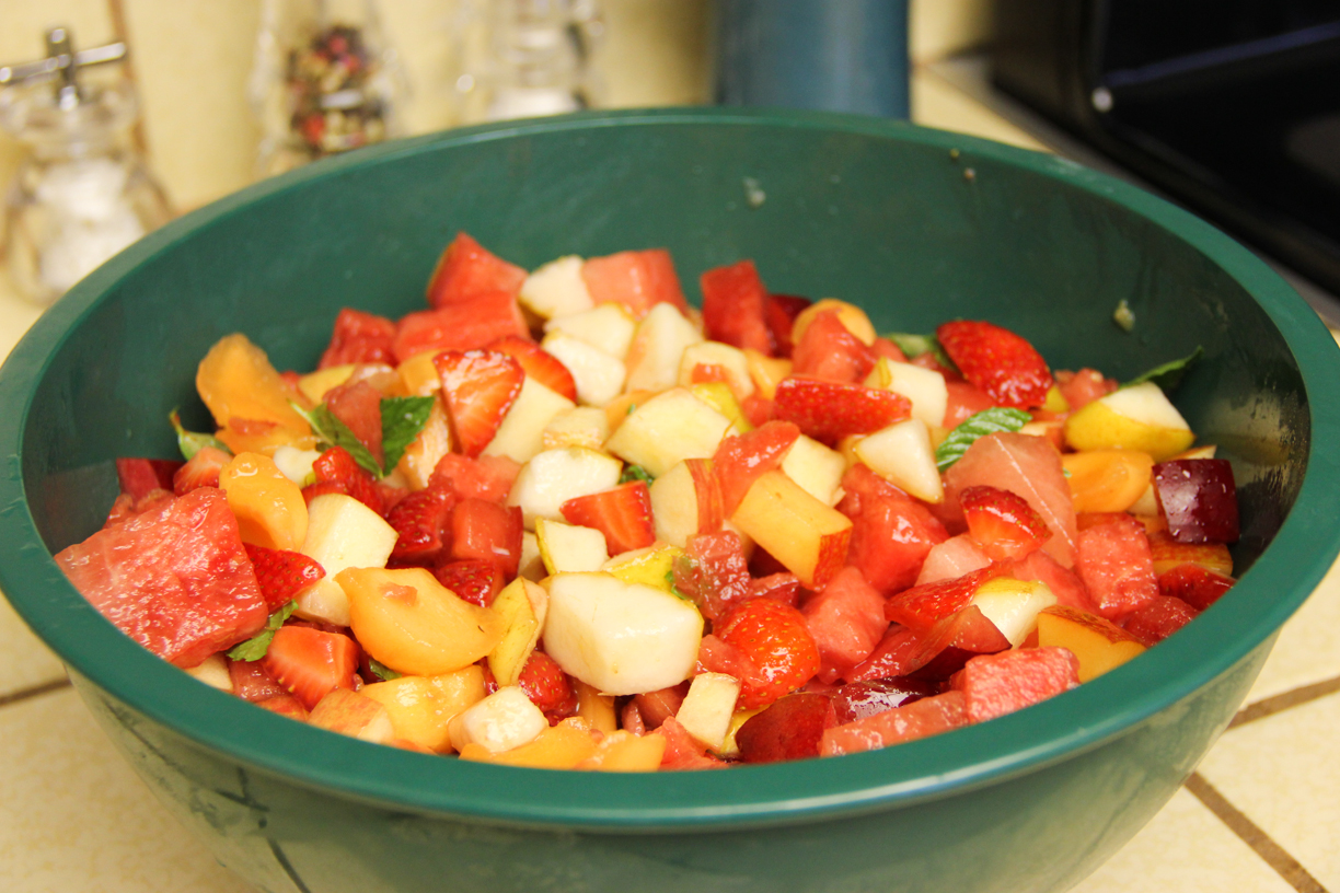 Fruit Salad With Light And Easy Syrup Laura Makes