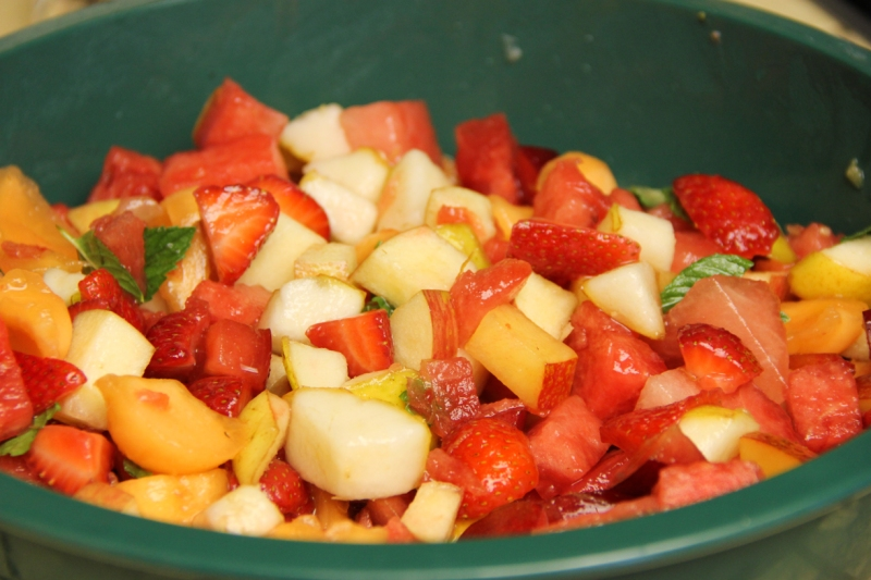 Colorful fruit salad!