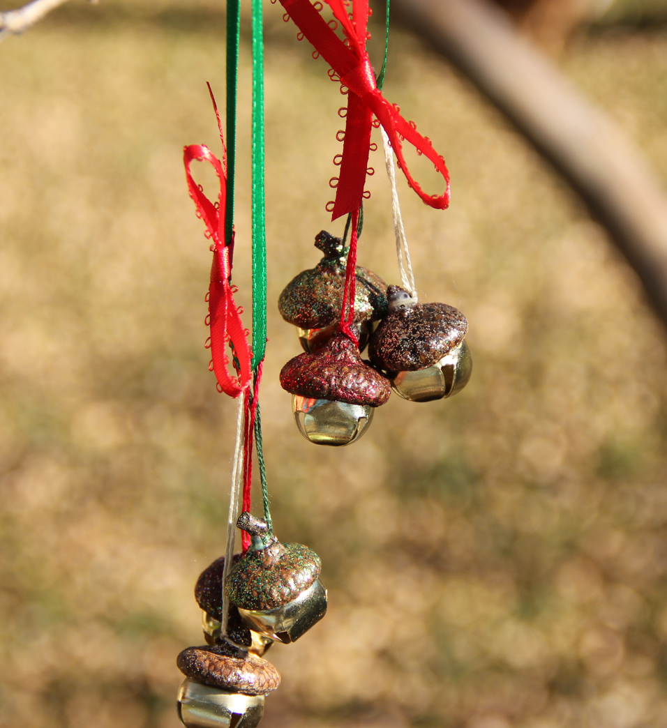 acorn jingle bell christmas ornaments laura makes
