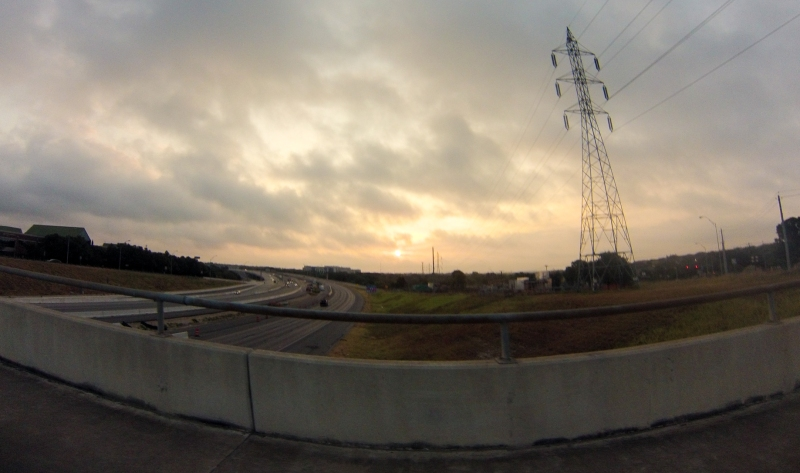 Sunrise over Mopac